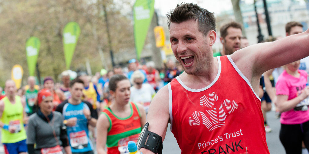 Frank enjoys the London Marathon 2016