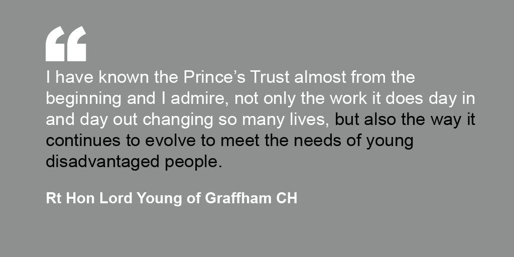 Rt Hon Lord Young of Graffham CH's endorsement for The Prince's Trust