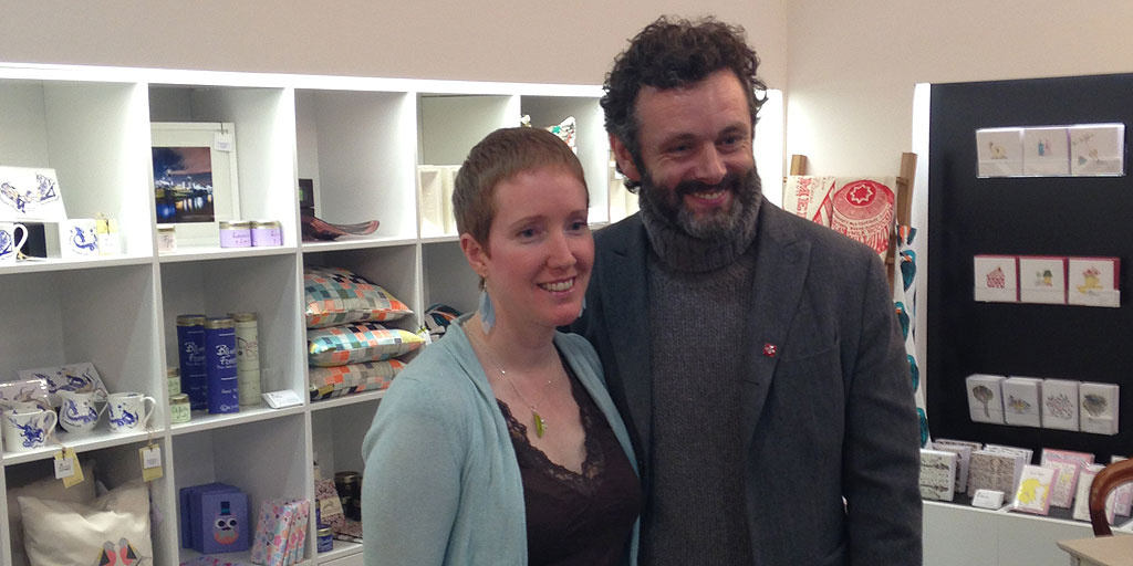 Michael Sheen with Louise Firinne