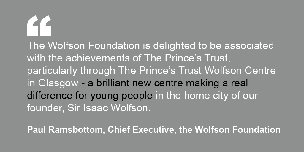 Paul Ramsbottom's endorsement for The Prince's Trust