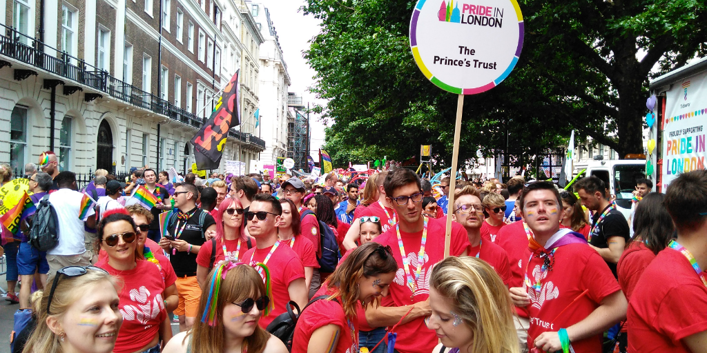 Prince's Trust staff at London Pride 2017