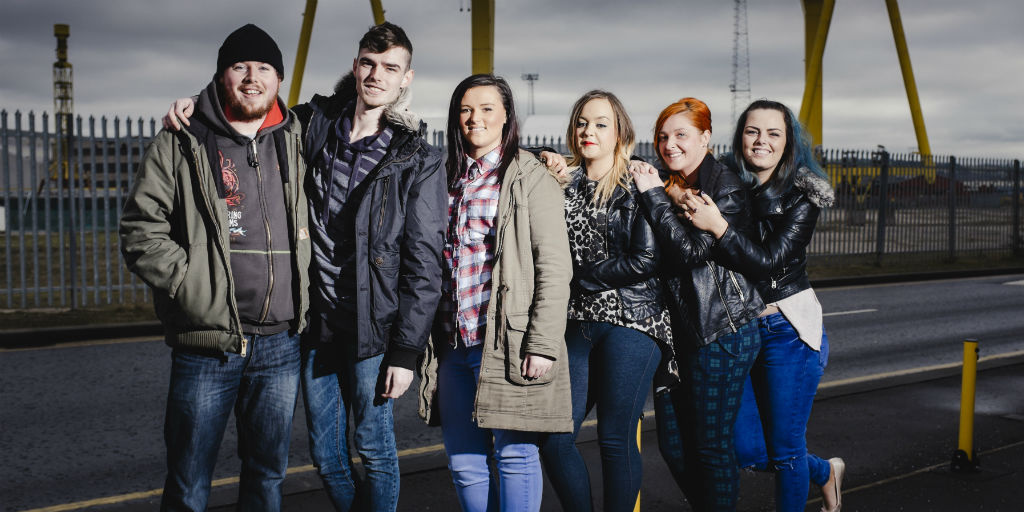 A group of young people on a Prince's Trust Team programme