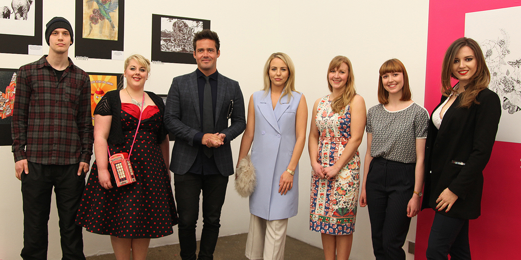 The 2016 Tomorrow's Talent winners with Lydia Bright and Spencer Matthews