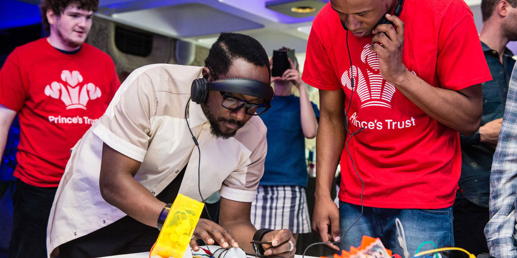 will.i.am meets young people on Get Started with Product Design