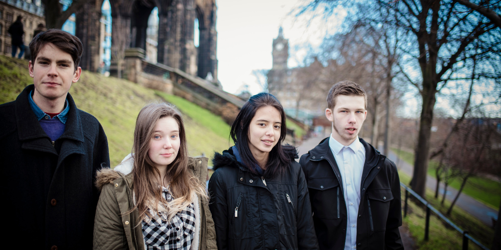 A group of young people in Edinburgh