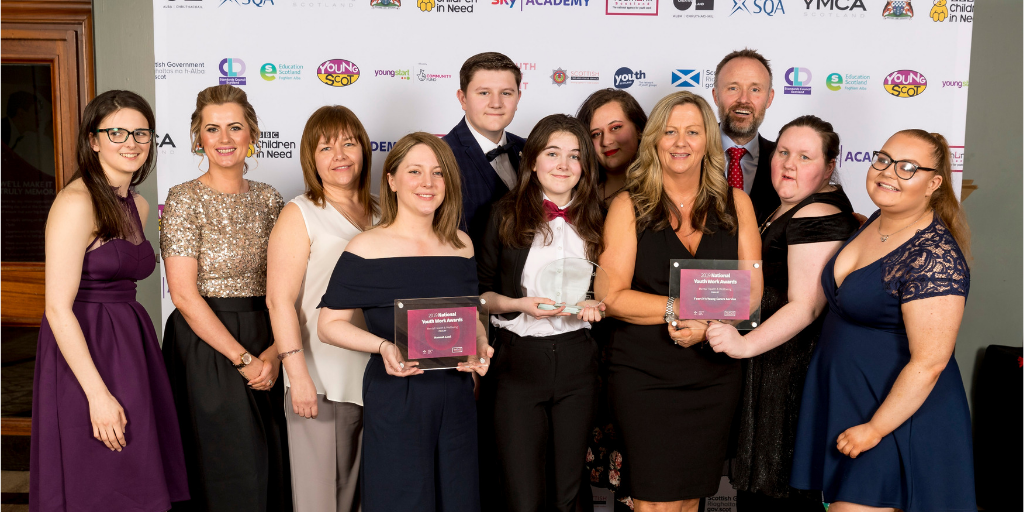 The finalists of the Mental Health and Wellbeing Award at the 2019 National Youth Work Awards